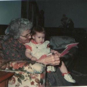 My grandmother and I on my first birthday, January 23, 1978. If she were still alive today, she would be celebrating her 114th birthday.
